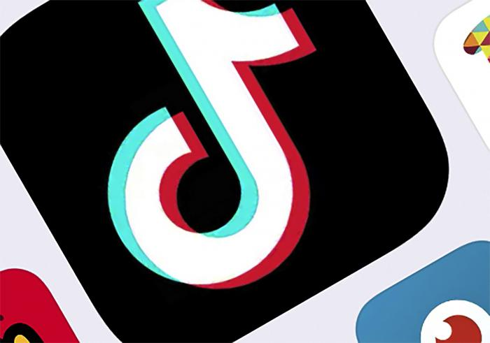 The icon for TikTok in New York.