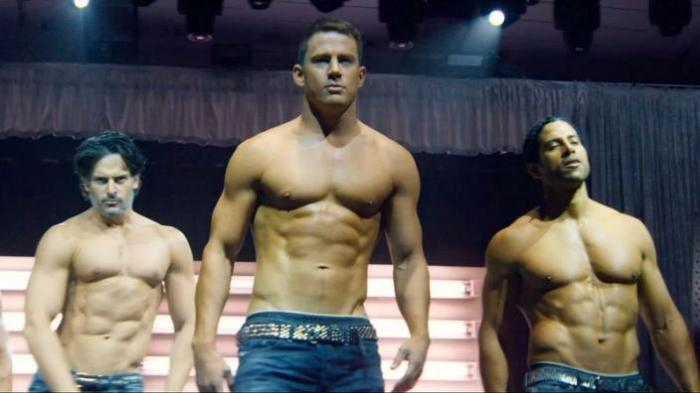 "Channing Tatum (center) in ""Magic Mike"""
