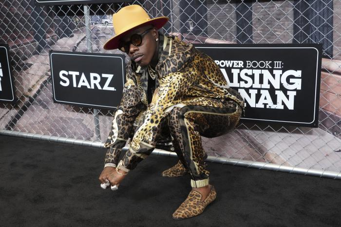 """DaBaby attends the world premiere of """"Power Book III: Raising Kanan"""" at the Hammerstein Ballroom on Thursday, July 15, 2021, in New York."""